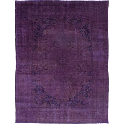 One-of-a-Kind Diakite Hand-Knotted Wool Purple Area Rug