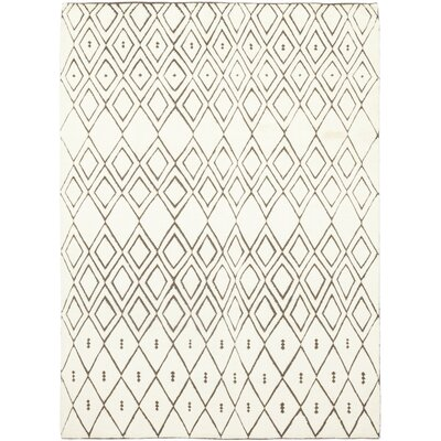 One-of-a-Kind Dillard Hand-Knotted Wool Ivory Area Rug