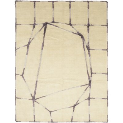 One-of-a-Kind Urbana Hand-Knotted Wool Beige Area Rug