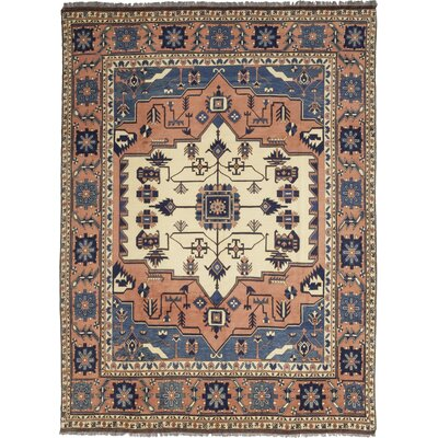 One-of-a-Kind Allbee Hand-Knotted Wool Light Brown/Blue Area Rug
