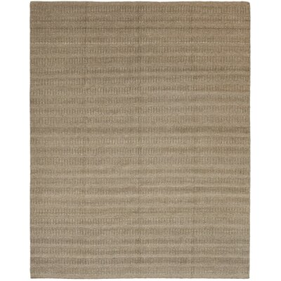 One-of-a-Kind Lemley Hand-Knotted Wool Brown Area Rug