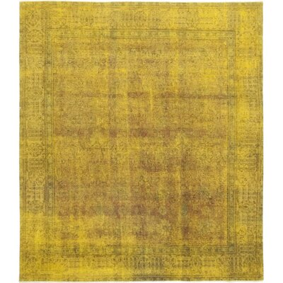 One-of-a-Kind Vaca Hand-Knotted Wool Yellow Area Rug