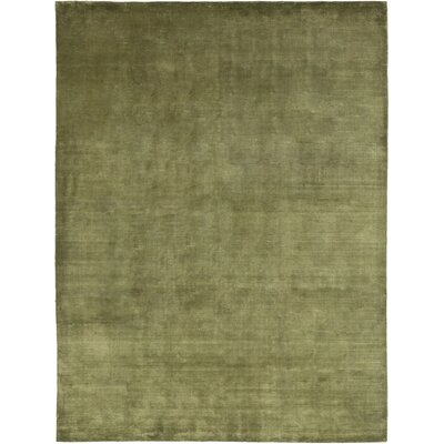 One-of-a-Kind Eklund Hand-Knotted Green Area Rug