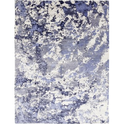One-of-a-Kind Van Glider Hand-Knotted Wool Blue Area Rug