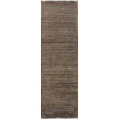 One-of-a-Kind Rowsey Hand-Knotted Silk Brown Area Rug