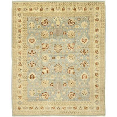 One-of-a-Kind Corrado Hand-Knotted Wool Beige/Blue Area Rug