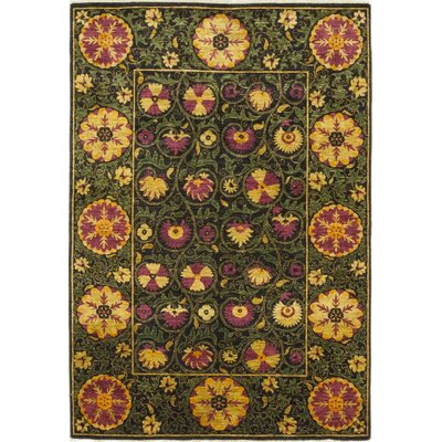One-of-a-Kind Heilman Hand-Knotted Wool Yellow/Green Area Rug