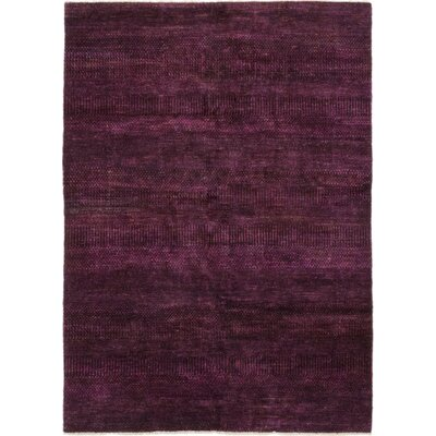 One-of-a-Kind Fiore Hand-Knotted Silk Purple Area Rug