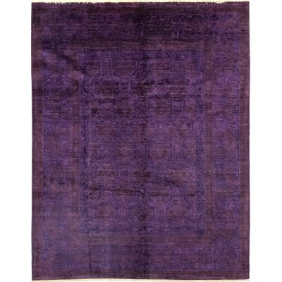 One-of-a-Kind Courter Hand-Knotted Wool Purple Area Rug