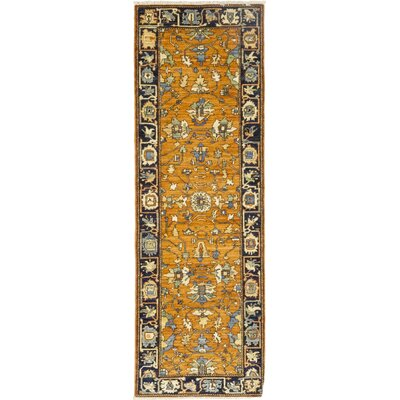 One-of-a-Kind Heimbach Hand-Knotted Wool Orange Area Rug