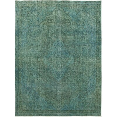One-of-a-Kind Kirschbaum Hand-Knotted Wool Green Area Rug