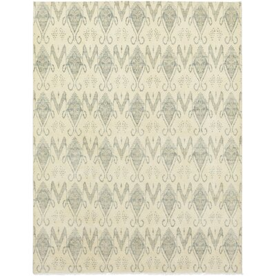 One-of-a-Kind Cote Hand-Knotted Wool Beige Area Rug
