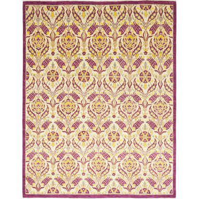 One-of-a-Kind Heilman Hand-Knotted Wool Pink Area Rug