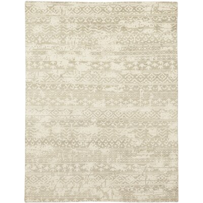 One-of-a-Kind Donaghy Hand-Knotted Wool Beige Area Rug