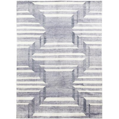 One-of-a-Kind Valdeze Hand-Knotted Wool Blue Area Rug