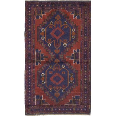 One-of-a-Kind Rowe Hand-Knotted Wool Red Area Rug