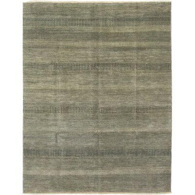 One-of-a-Kind Diederich Hand-Knotted Wool Gray Area Rug