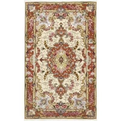 One-of-a-Kind Costigan Hand-Knotted Wool Beige/Red Area Rug