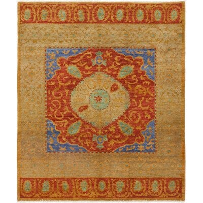 One-of-a-Kind Simione Hand-Knotted Wool Red Area Rug