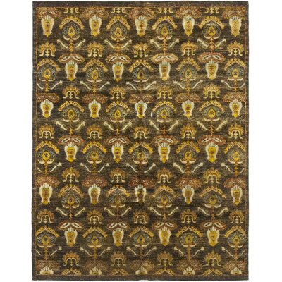 One-of-a-Kind Djokpe Hand-Knotted Silk Yellow/Brown Area Rug