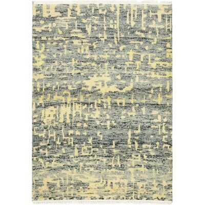 One-of-a-Kind Van Buren Hand-Knotted Wool Yellow/Gray Area Rug