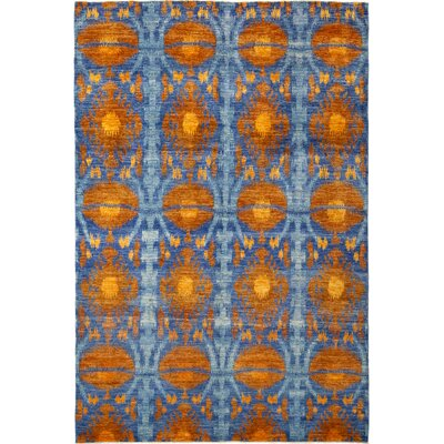 One-of-a-Kind Virenque Hand-Knotted Wool Orange Area Rug