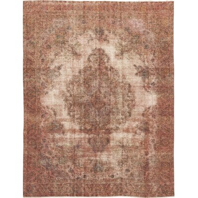 One-of-a-Kind Brunot Hand-Knotted Wool Pink Area Rug