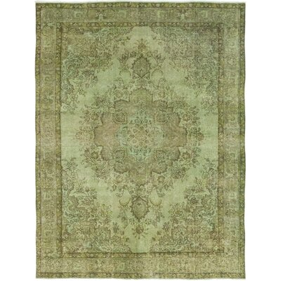 One-of-a-Kind Lieberum Hand-Knotted Wool Green Area Rug