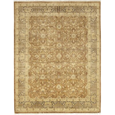 One-of-a-Kind Courtnay Hand-Knotted Wool Beige Area Rug