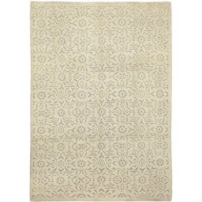 One-of-a-Kind Dillard Hand-Knotted Wool Beige Area Rug