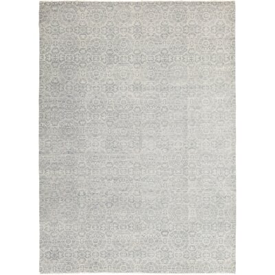 One-of-a-Kind Norwood Hand-Knotted Wool Blue Area Rug