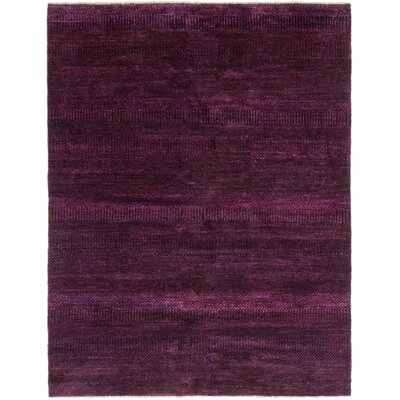 One-of-a-Kind Fiorentino Hand-Knotted Silk Purple Area Rug
