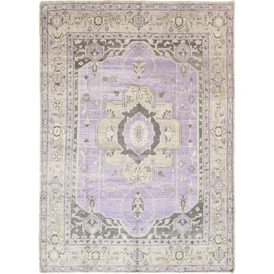 One-of-a-Kind Marconi Hand-Knotted Silk Purple Area Rug