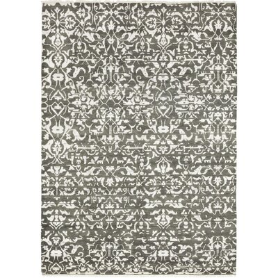 One-of-a-Kind Longstaff Hand-Knotted Wool Gray Area Rug