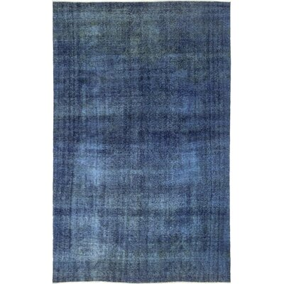 One-of-a-Kind Eisenman Hand-Knotted Wool Blue Area Rug