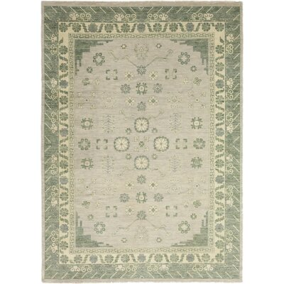One-of-a-Kind Murzyn Hand-Knotted Wool Green Area Rug