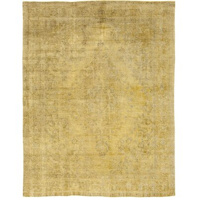 One-of-a-Kind Bischoff Hand-Knotted Wool Yellow Area Rug