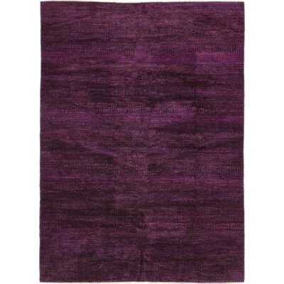One-of-a-Kind Finney Hand-Knotted Silk Purple Area Rug