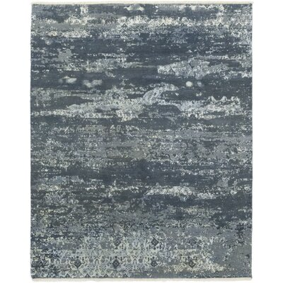 One-of-a-Kind Eliason Hand-Knotted Wool Blue Area Rug