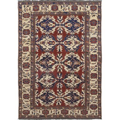 One-of-a-Kind Allbee Hand-Knotted Wool Red Area Rug