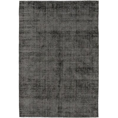 One-of-a-Kind Elam Hand-Knotted Black Area Rug