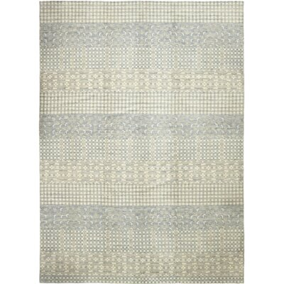 One-of-a-Kind Montage Hand-Knotted Wool Blue Area Rug