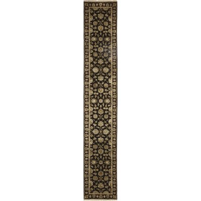 One-of-a-Kind Corrado Hand-Knotted Black Area Rug