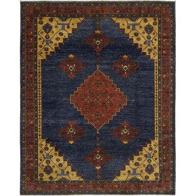 One-of-a-Kind Cort Hand-Knotted Wool Blue Area Rug
