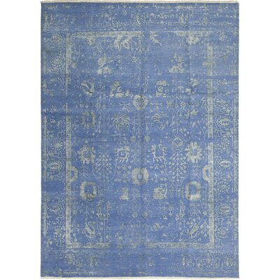 One-of-a-Kind Miles Hand-Knotted Blue Area Rug