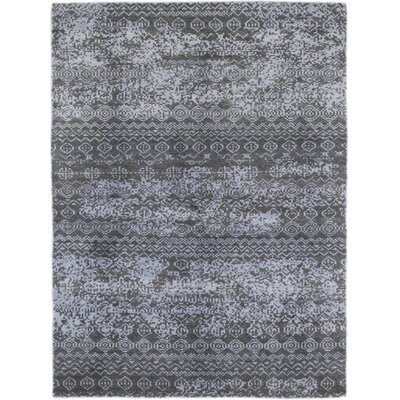 One-of-a-Kind Olvera Hand-Knotted Wool Blue Area Rug
