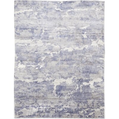 One-of-a-Kind Valkenburg Hand-Knotted Wool Blue Area Rug