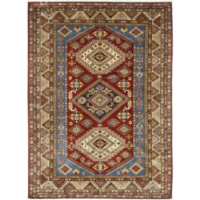 One-of-a-Kind Rowden Hand-Knotted Wool Red Area Rug