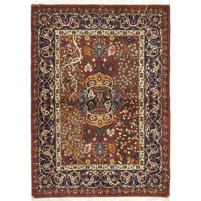 One-of-a-Kind Cox Hand-Knotted Wool Red Area Rug