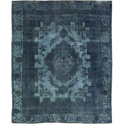 One-of-a-Kind Gadiaga Hand-Knotted Wool Blue Area Rug